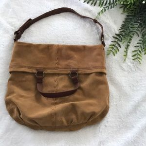 Lucky Brand 🍀 suede and real leather hobo bag